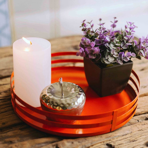 Tread Drinks Tray - Orange