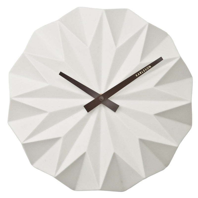 Origami Wall Clock - White