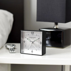 Particle Analogue Alarm Clock - Black