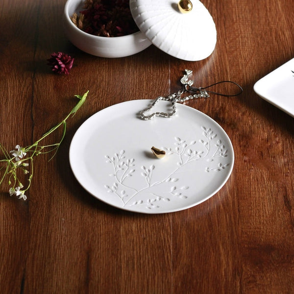Porcelain Trinket Dish - Golden Bird