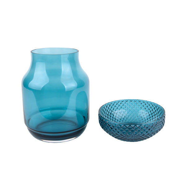 Gem Glass Vase - Blue