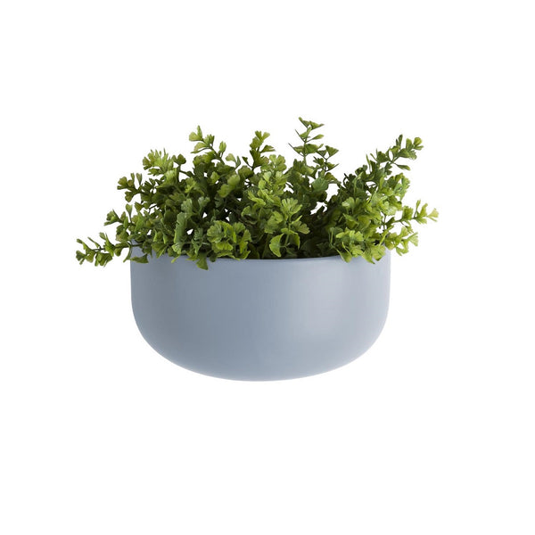 Ceramic Oval Wall Planter - Sky Blue