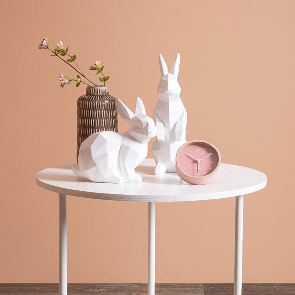Bunny Faceted Sculpture Small - White