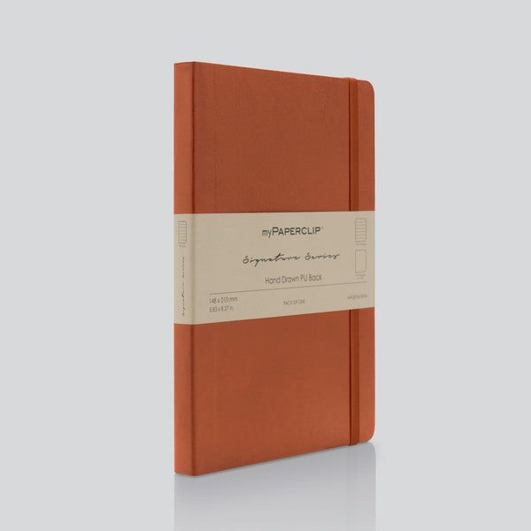 PU Back Notebook, Signature Series - Tan