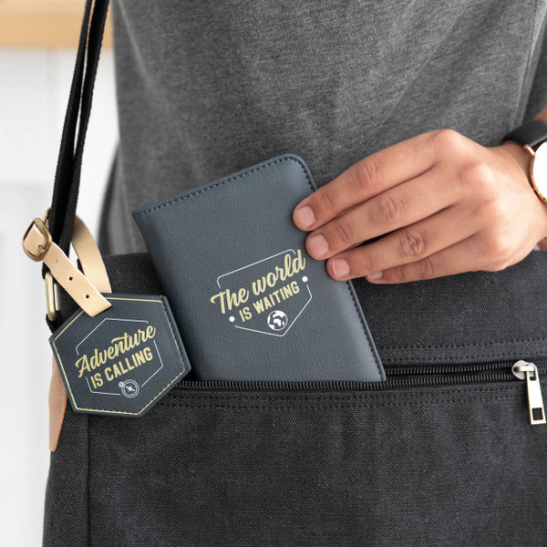 Passport Holder & Luggage Tag - Adventure