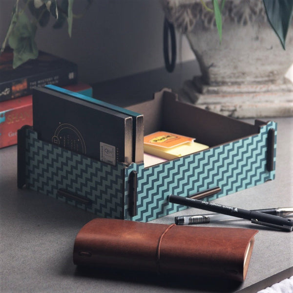 Patterned Storage Box - Blue