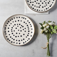 Estelle Polka Ceramic Dinner Plates, Set of 2