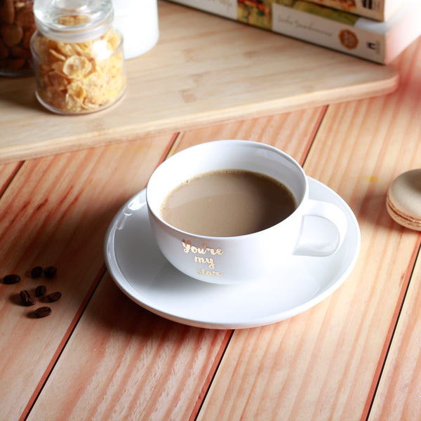 Porcelain Coffee Cup and Saucer Set - My Star