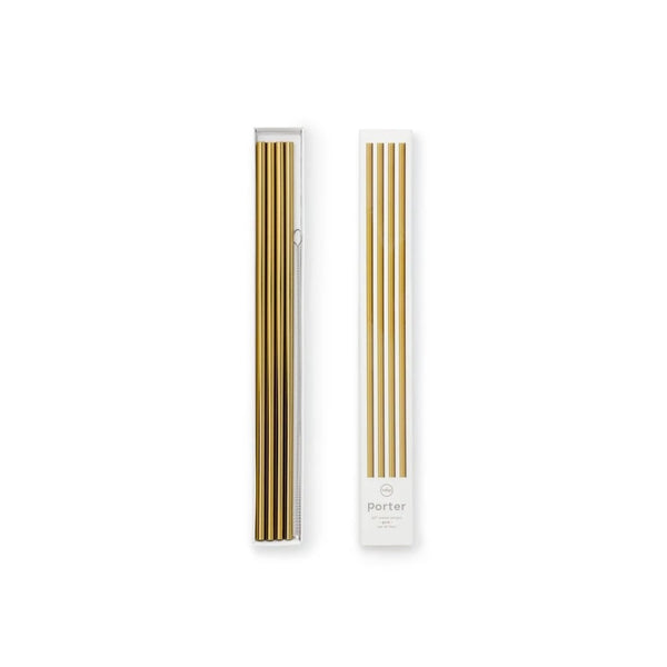 Porter Metallic Tall Straws - Gold