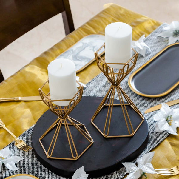 Prism Candle Holders, Set of 2