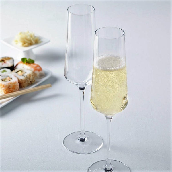 Puccini Champagne Glasses, Set of 6