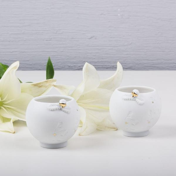 Collection of 2 Porcelain Tea Light Holders
