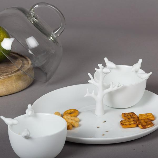 Tree Tray and Birds Bowls - Modern Quests