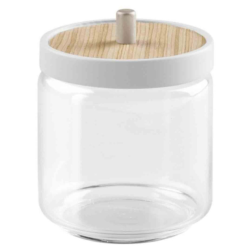 RealWood Glass Canister with Lid