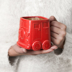 Ceramic Van Mug - Red
