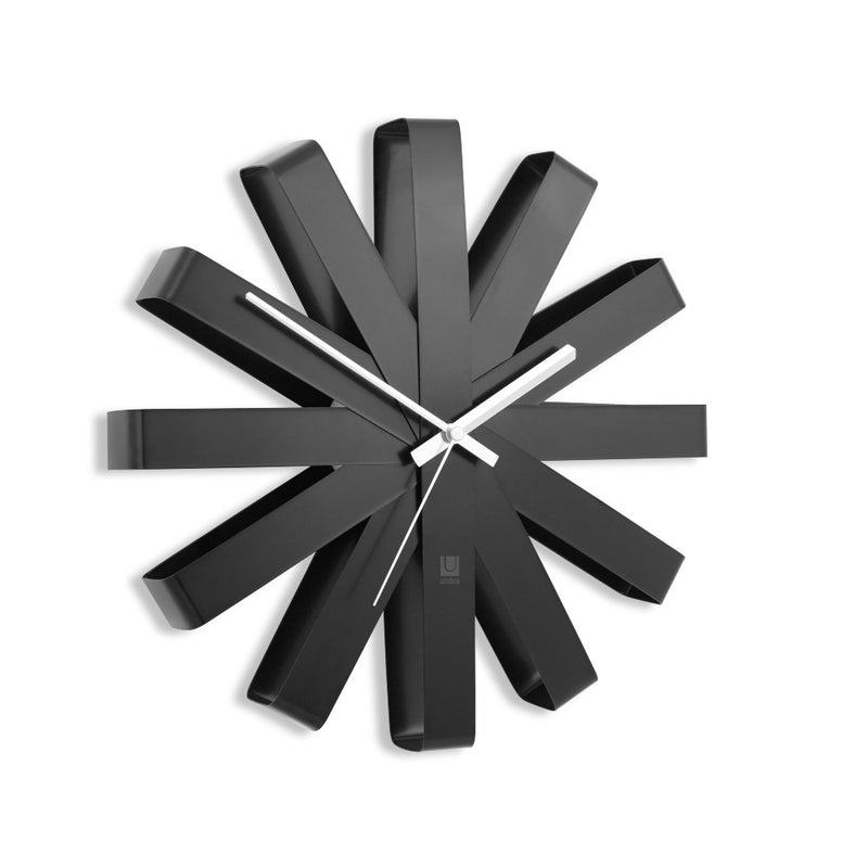 Ribbon Wall Clock - Black