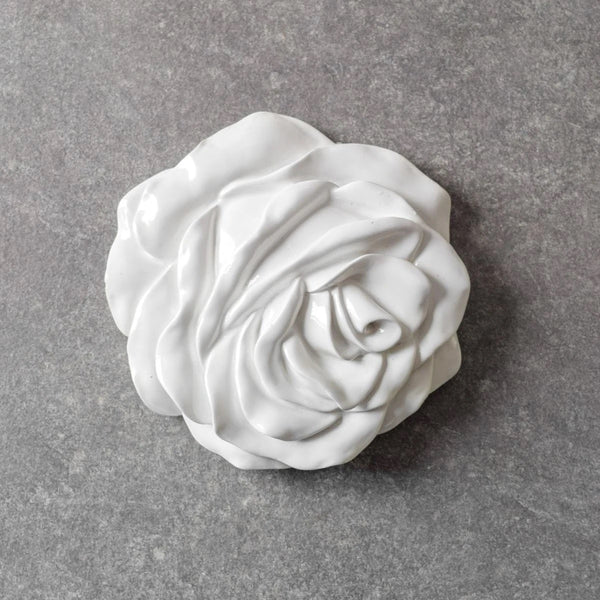 Rose Flower Wall Sculptures, Set of 2