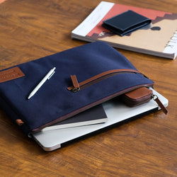 Rye Laptop Sleeve 13 Inch - Oxford Blue