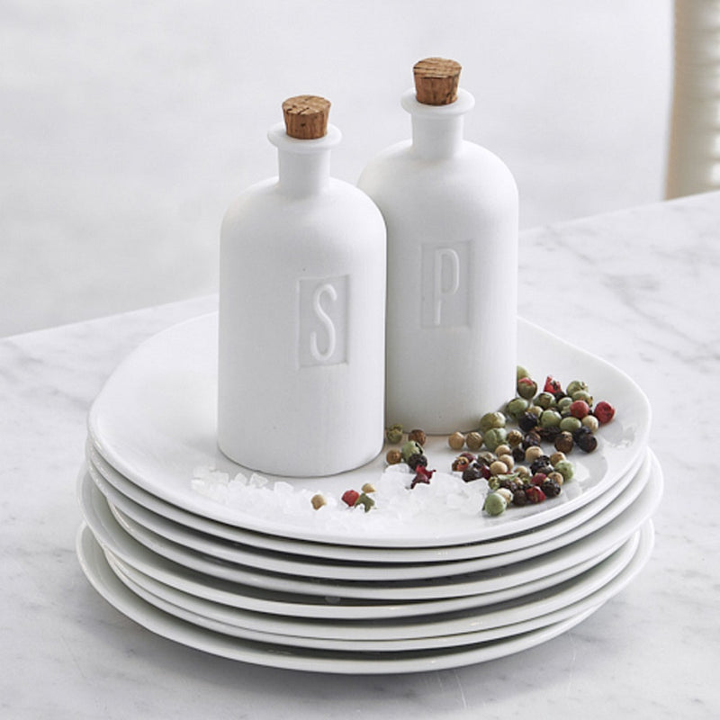 Bottles Salt and Pepper Set With Cork Lids