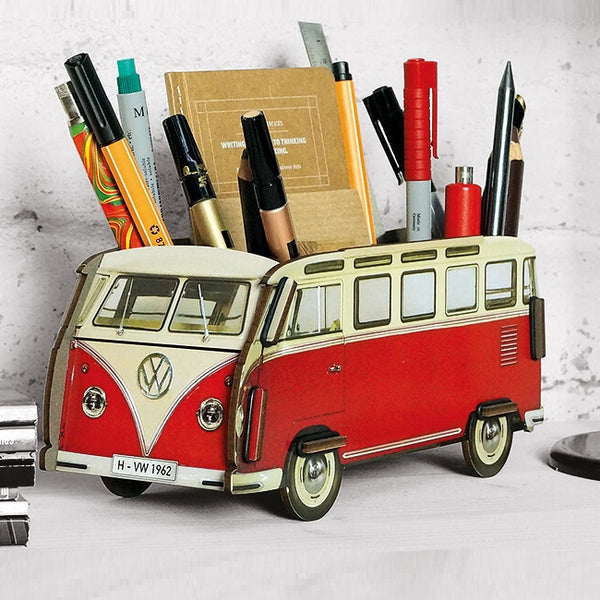 Pen Holder - Red VW Van