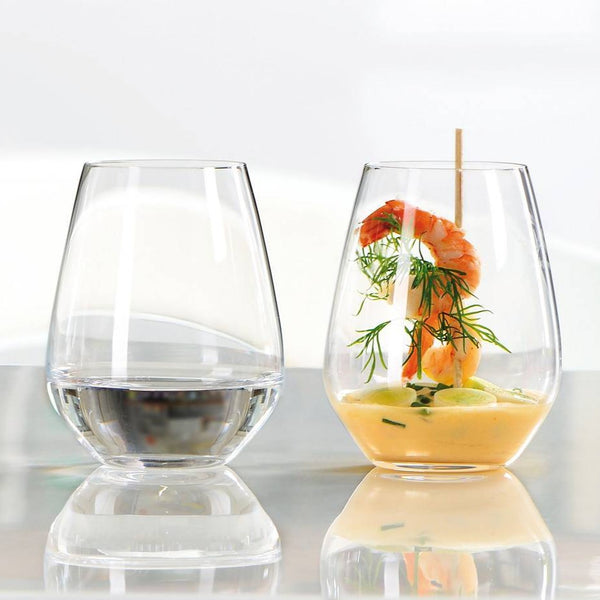 Authentis Stemless White Wine Glasses, Set of 6