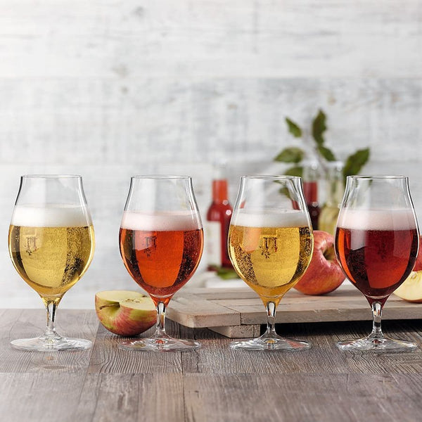Barrel Aged Craft Beer Glasses, Set of 4