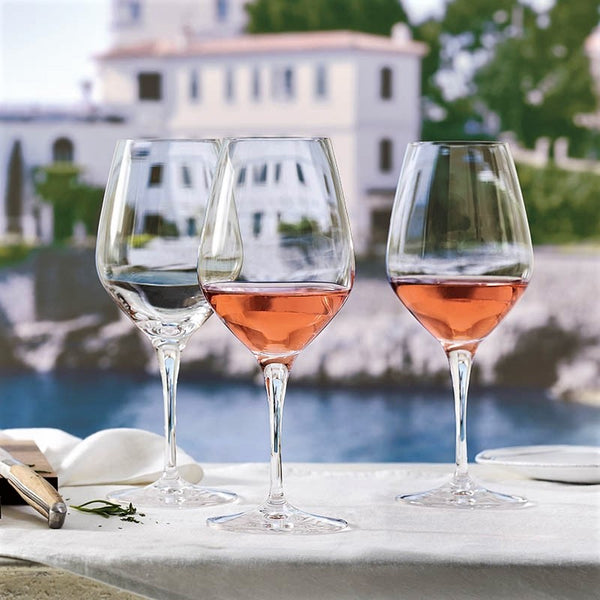 Rose Wine Glasses, Set of 4