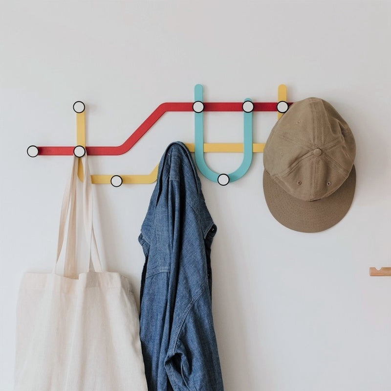 Subway Multi Hooks - Red Green Yellow