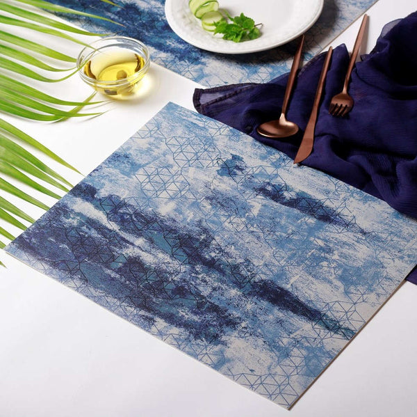 Vinyl Placemats, Set of 2 - Sea Blue