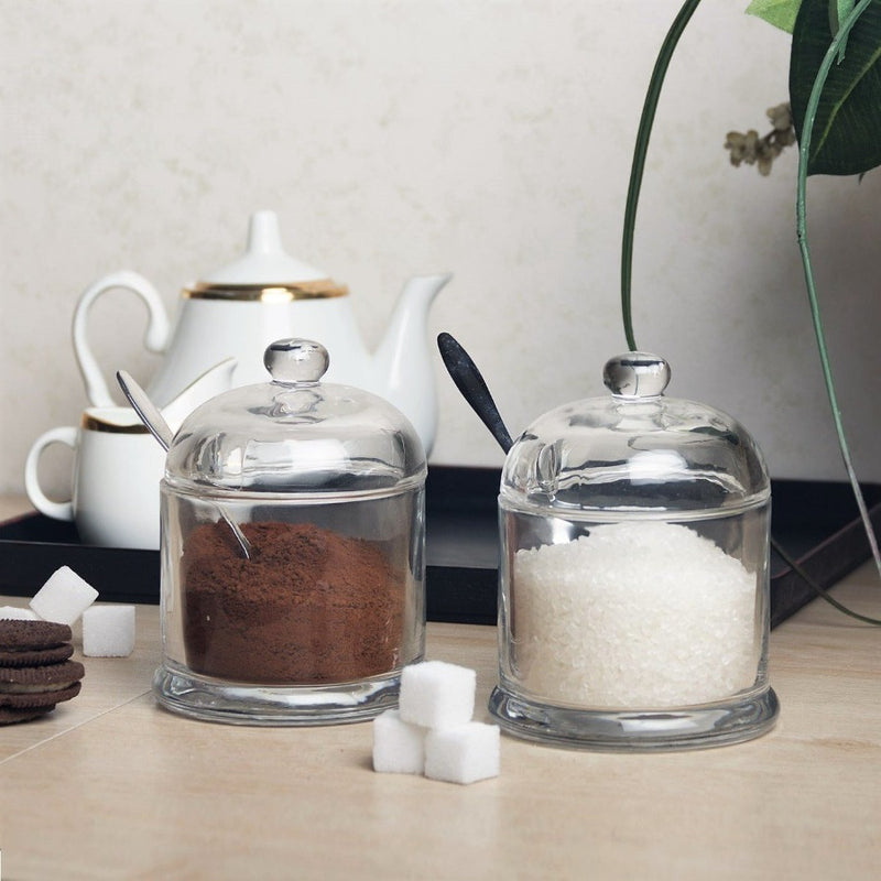 Glass Seasoning Jars, Set of 2