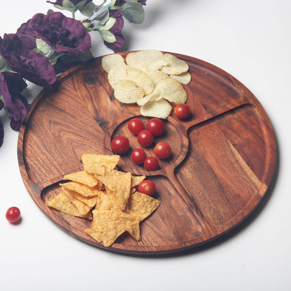 Creek Wooden Sectional Platter Large
