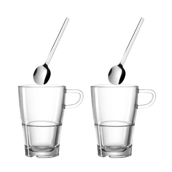 Senso Tall Cups with Spoons, Set of 2
