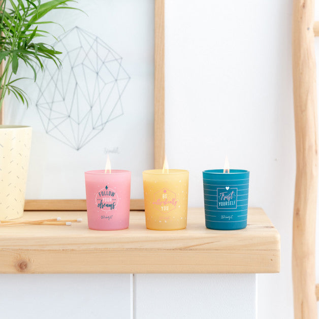 Set of 3 Scented Candles - Shine As Only You Know