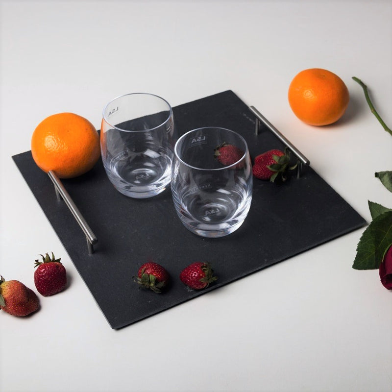 Slate Serving Tray with Handles