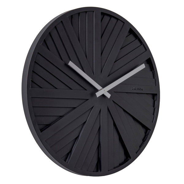 Slides Wall Clock - Black