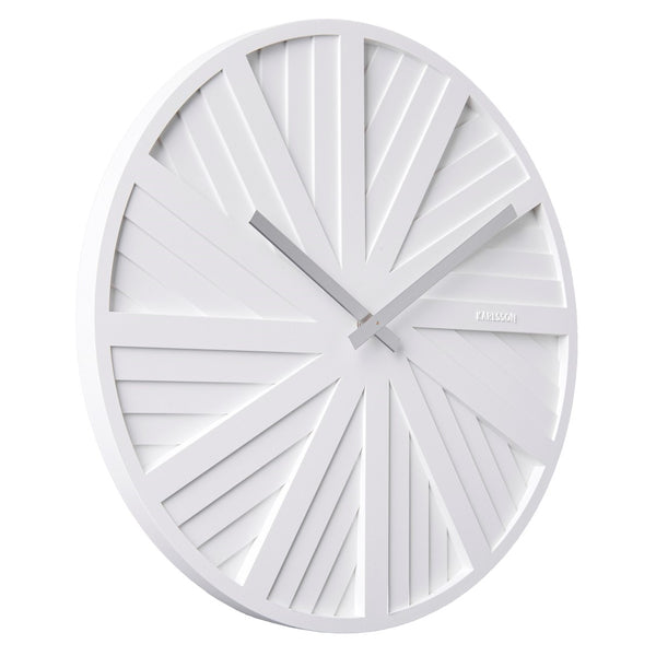 Slides Wall Clock - White