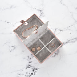 Travel Jewellery Box - Soft Pink
