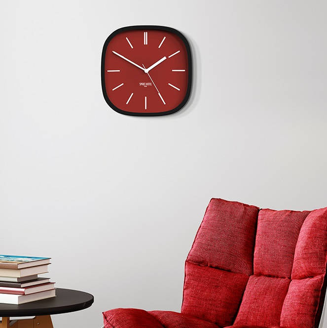Moontick Wall Clock - Red