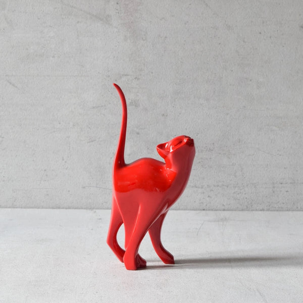 Sparky Cat Sculpture - Red