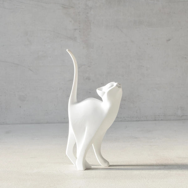 Sparky Cat Sculpture - White