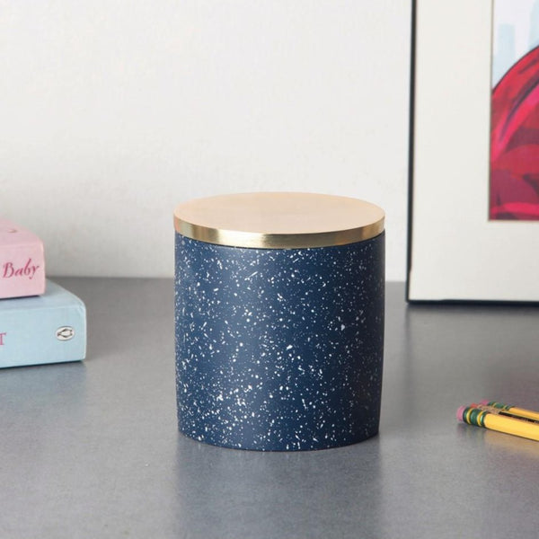 Speckled Storage Box - Navy Gold