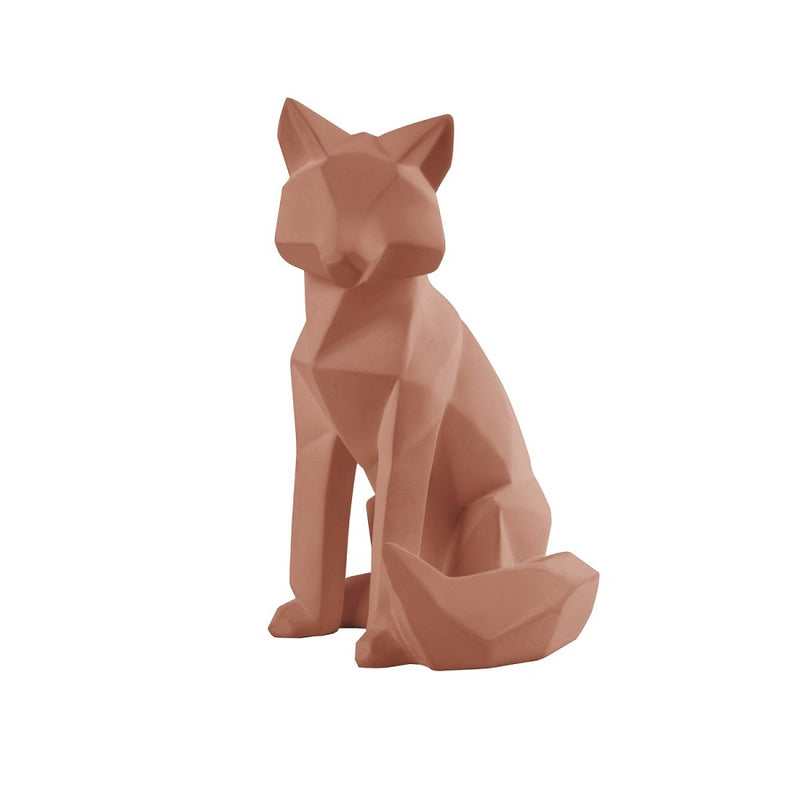 Fox Faceted Sculpture, Large - Clay Brown
