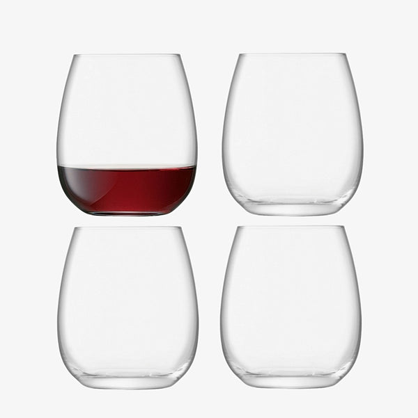 Borough Stemless Glasses, Set of 4
