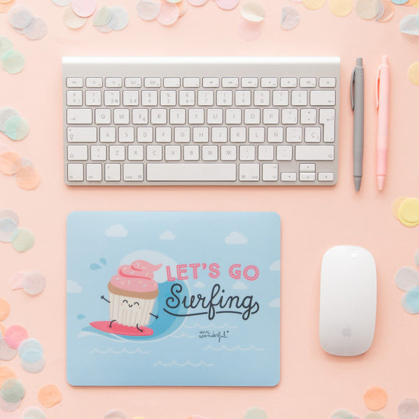 Mouse Pad - Let's Go Surfing