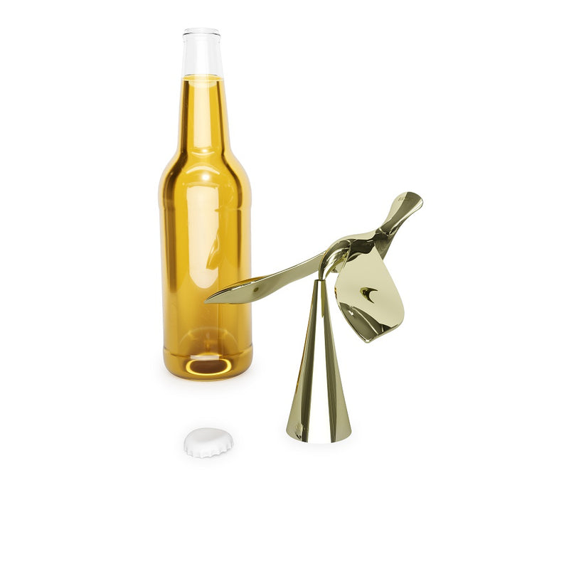 Tipsy Bottle Opener - Brass