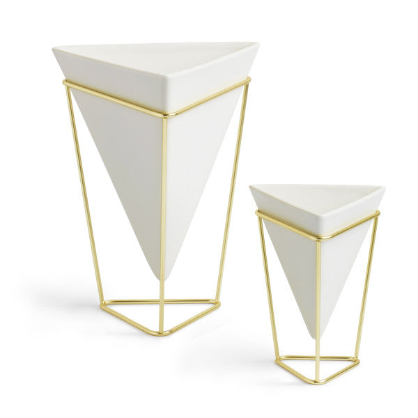 Trigg Tabletop Vessel, Set of 2 - White Brass