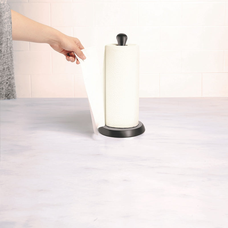 Tug Paper Towel Holder - Black Metal
