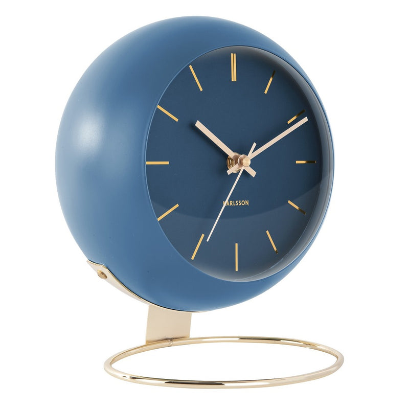 Globe Table Clock - Blue Gold