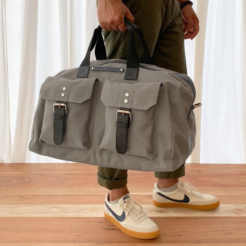 The Hitchhiker Duffle Bag - Grey Canvas