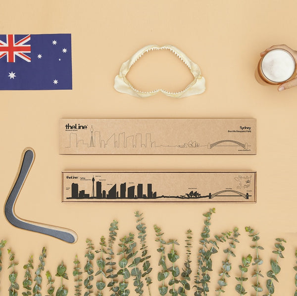 Metal Skyline Wall Decor - Sydney